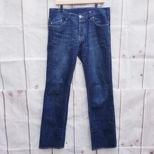 William Rast Dark Wash Straight Leg Jeans Size 32